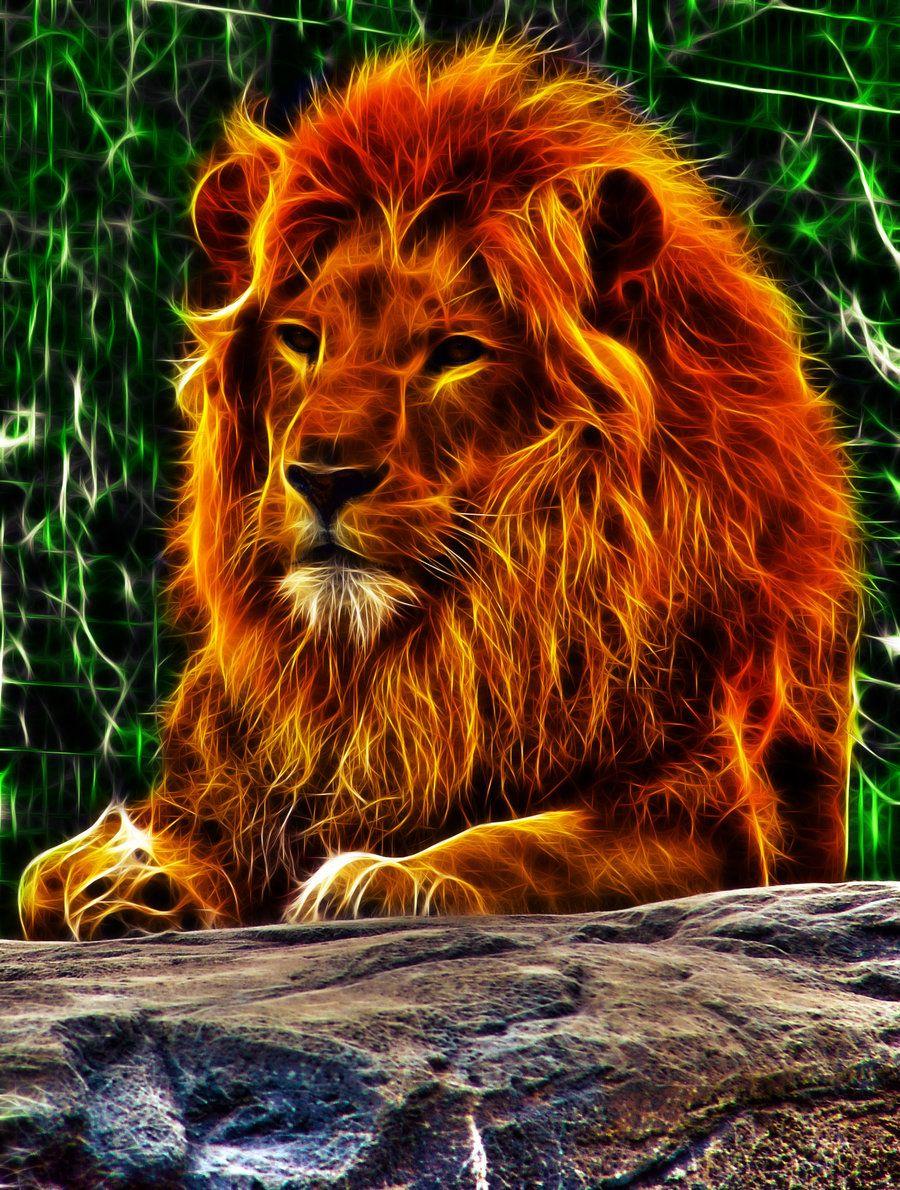 Fractalius Hdr Lion