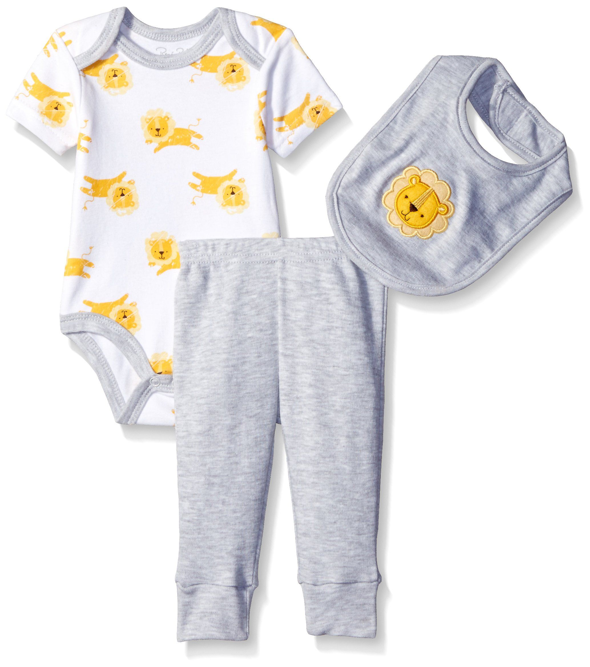 Rene Rofe Baby Boys Turn Me Round 3 Piece Pant Set Lion 0 3