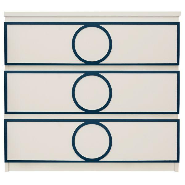 Show details for Gracie Full O'verlay Kit for IKEA MALM (3 drawer)