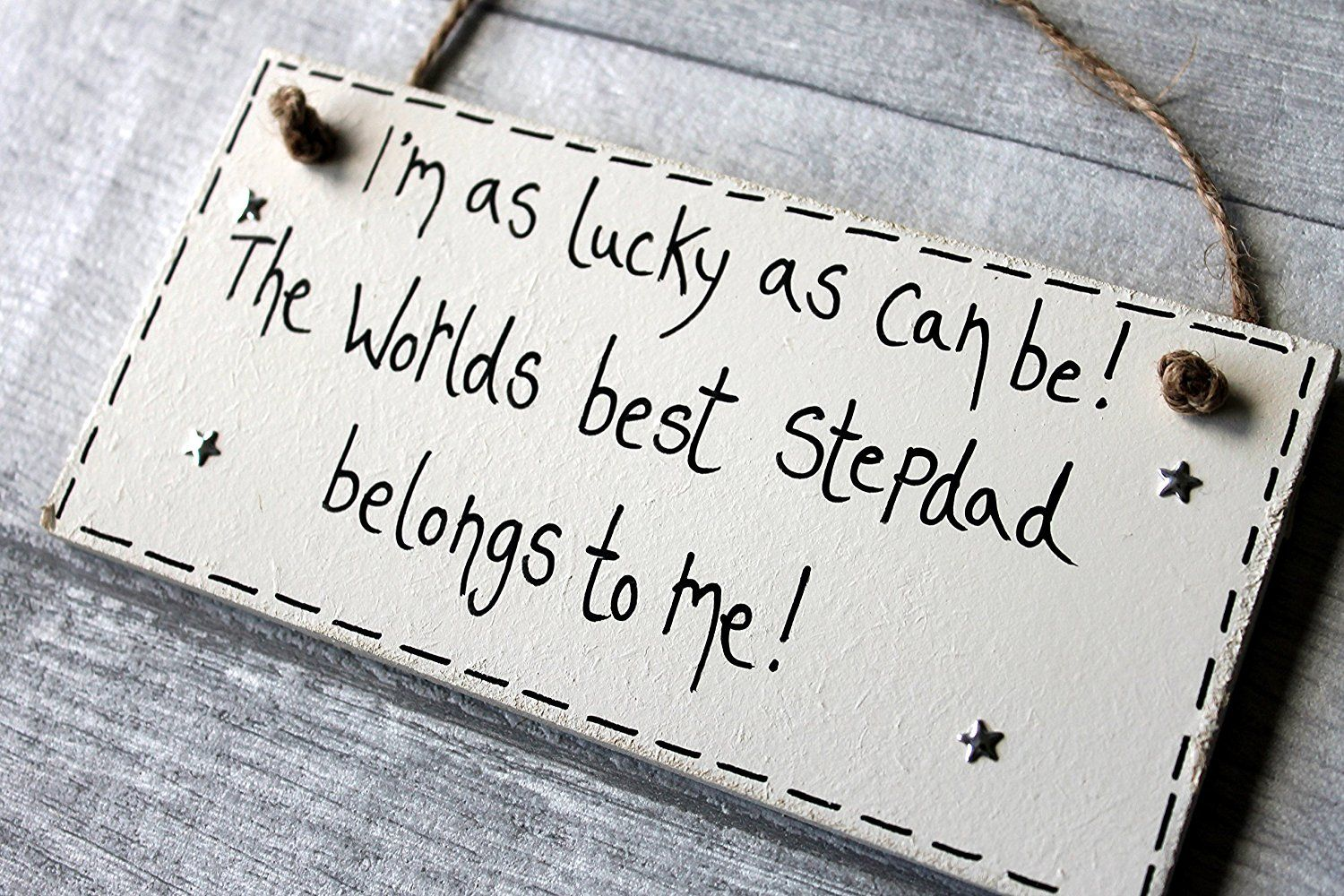 Madeat94 step dad gifts personalised wooden plaque sign