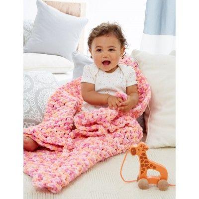 Simple Baby Blanket - Patterns | Yarnspirations