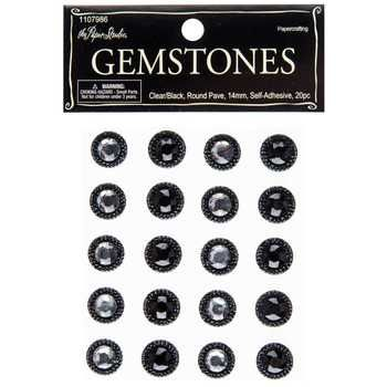 Clear black round pave gemstone stickers hobby lobby 1107986