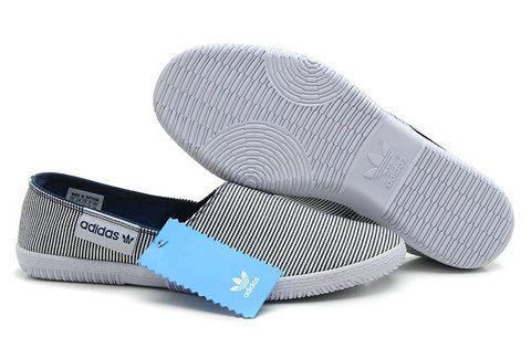 fc5c78e9acb1 Adidas Adidrill Canvas Loafers Mens Flats Grey