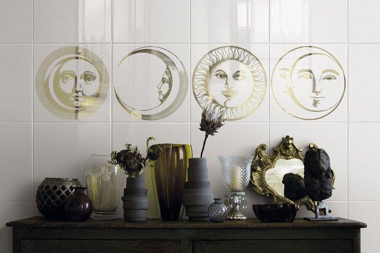 Piero fornasetti soli e lune ceramica bardelli ceramics