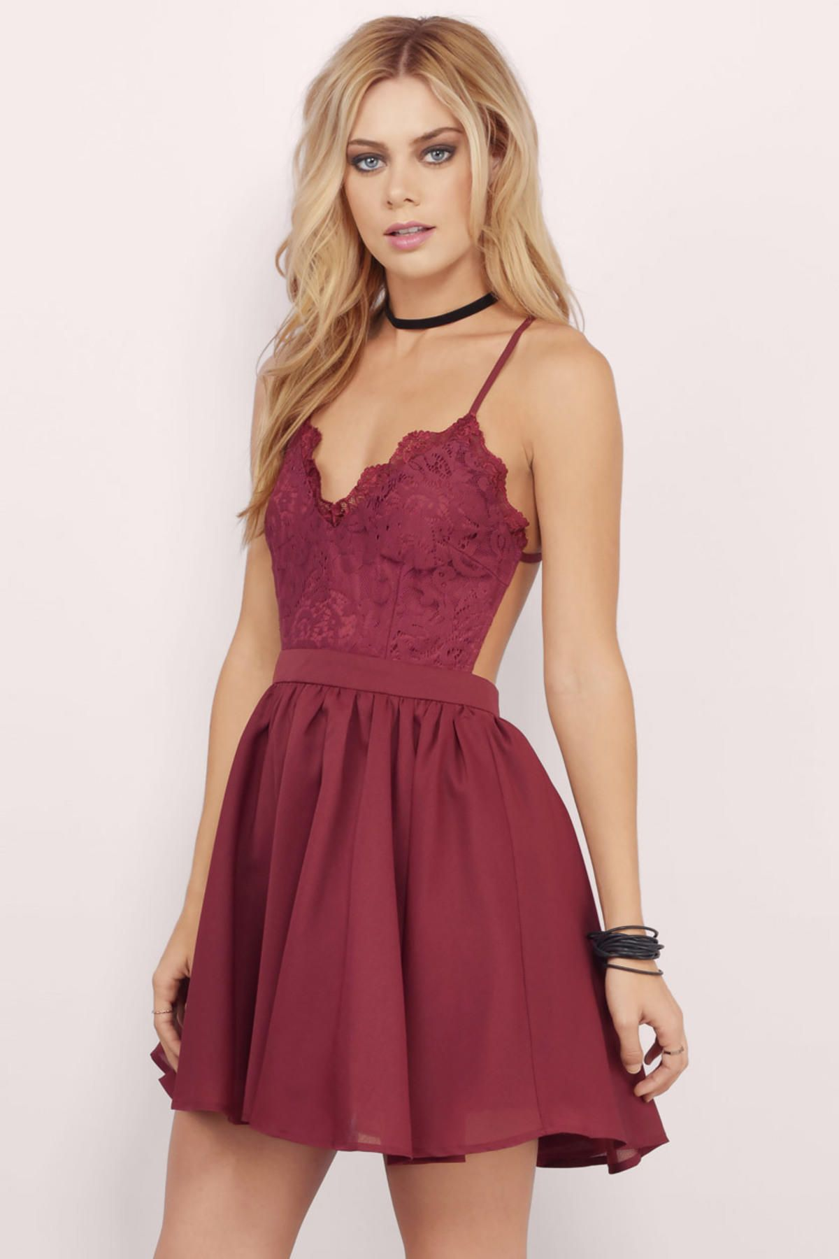 Prom Dresses, Tobi, Burgundy Mila Skater Dress | dresses ...