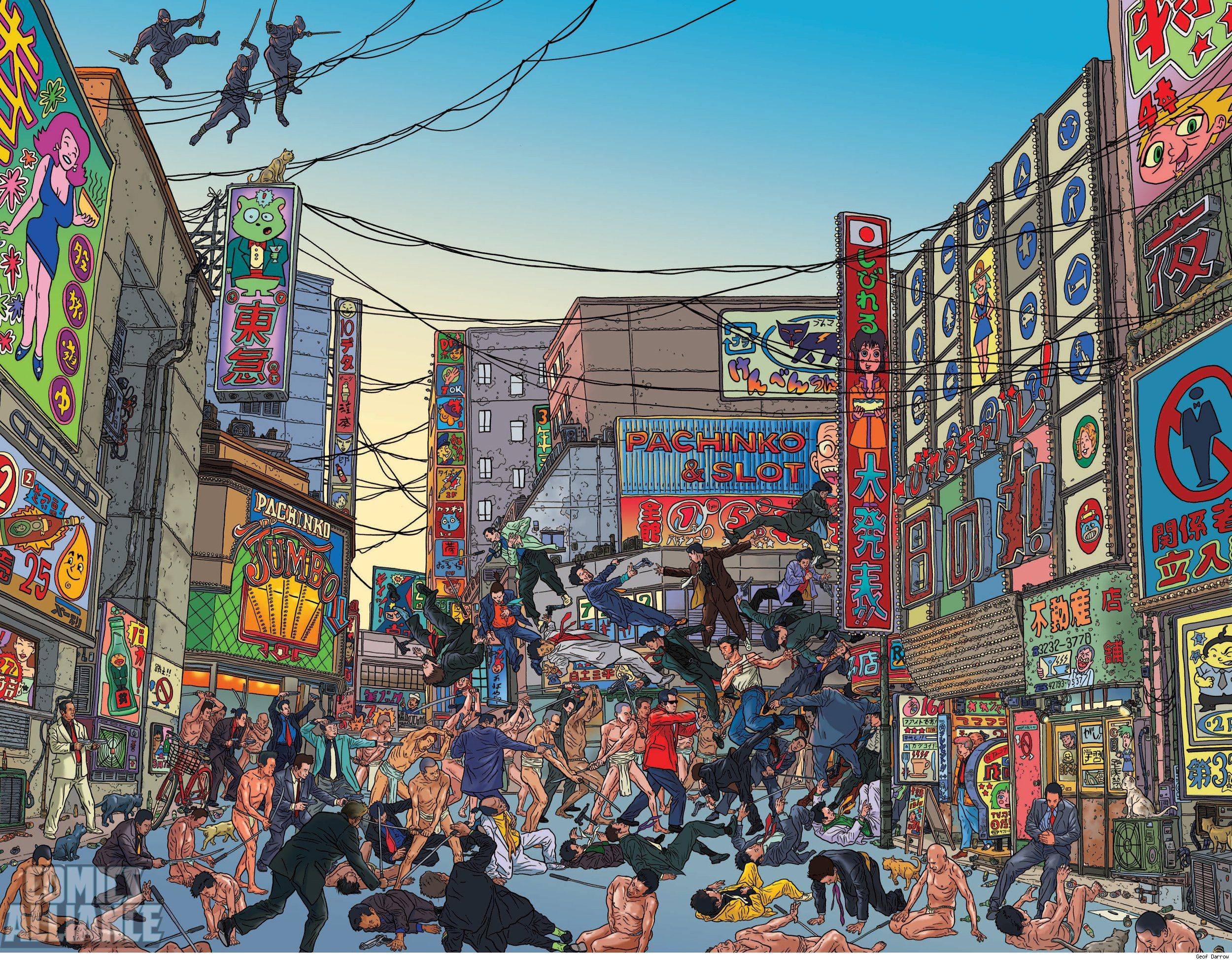 Geof Darrow's illustration for Wolverine #300 Cover with ...