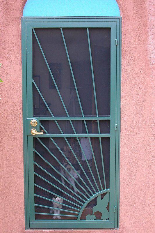 Security Screen Doors Barnett Aldon Ironworks Screen Door Security Screen Door Security Door