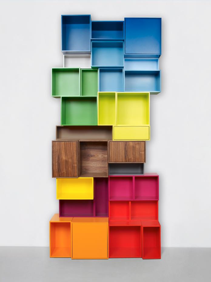 Skulpturales b cherregal bunt colorful bookshelf tag re livres sculpturale multicolore - Kinderzimmer regal bunt ...