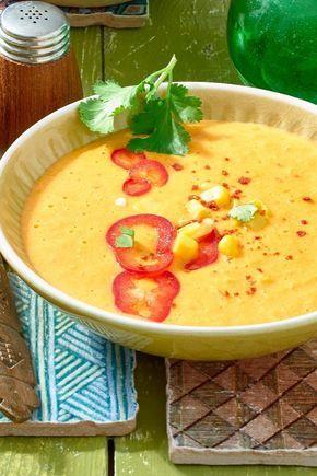 Mexikanische Maissuppe mit Paprika