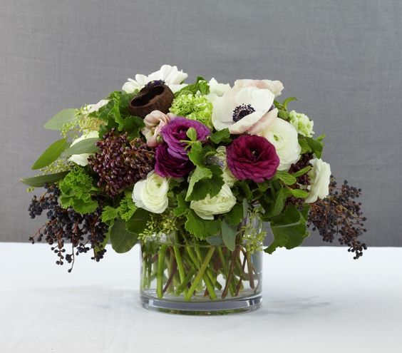 Gorgeous Wedding Reception Centerpieces--Purple Reign Floral