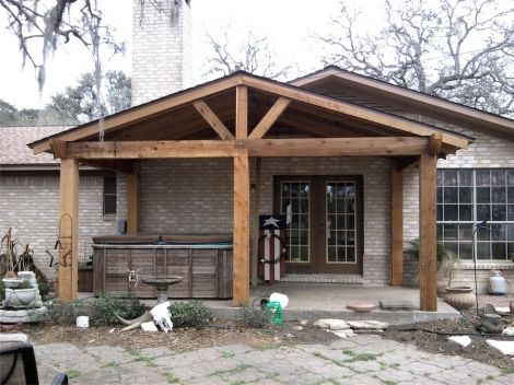 Exposed Beam Porch Google Search Patio Roof Roof