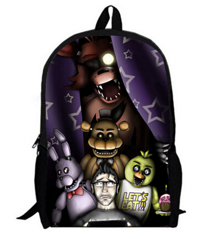 16 Inch Five Nights At Freddy Kids Backpacks Customized Mochila ...