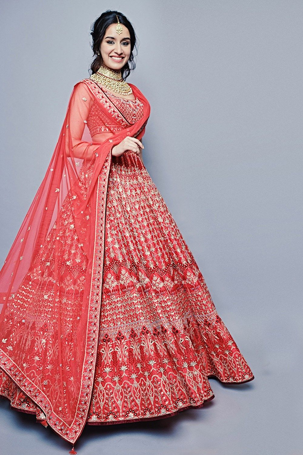 Mirayka Lehenga as seen on Shraddha Kapoor by Anita Dongre