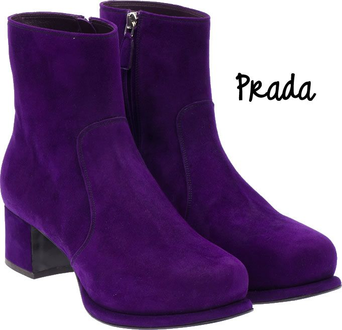 #modademadrid #fashion #moda Mis nuevos botines #Prada Purple. IMPRESIONANTES