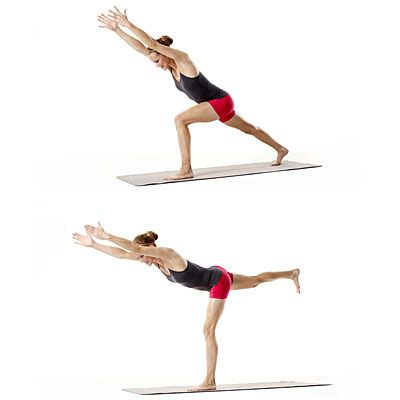 Legs & butt: Low lunge hover