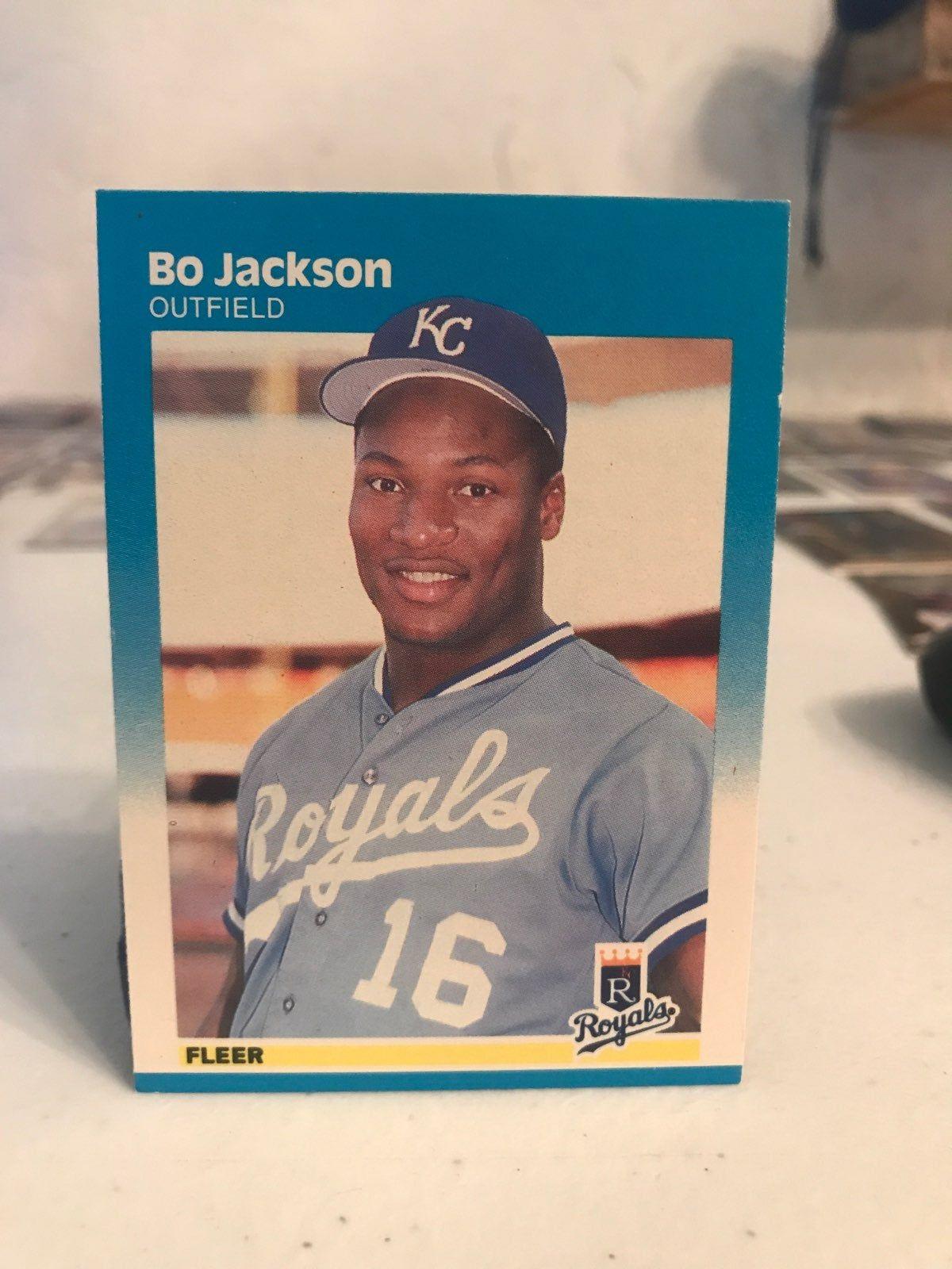 1987 fleer bo jackson card bo jackson jackson baseball