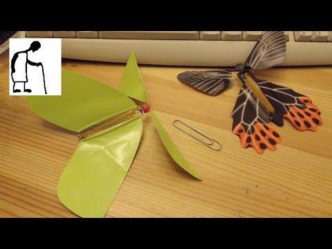 Can I Make A Rubber Band Powered Fluttering Butterfly Toy Flying Butterfly Card Paper Butterfly Paper Butterflies