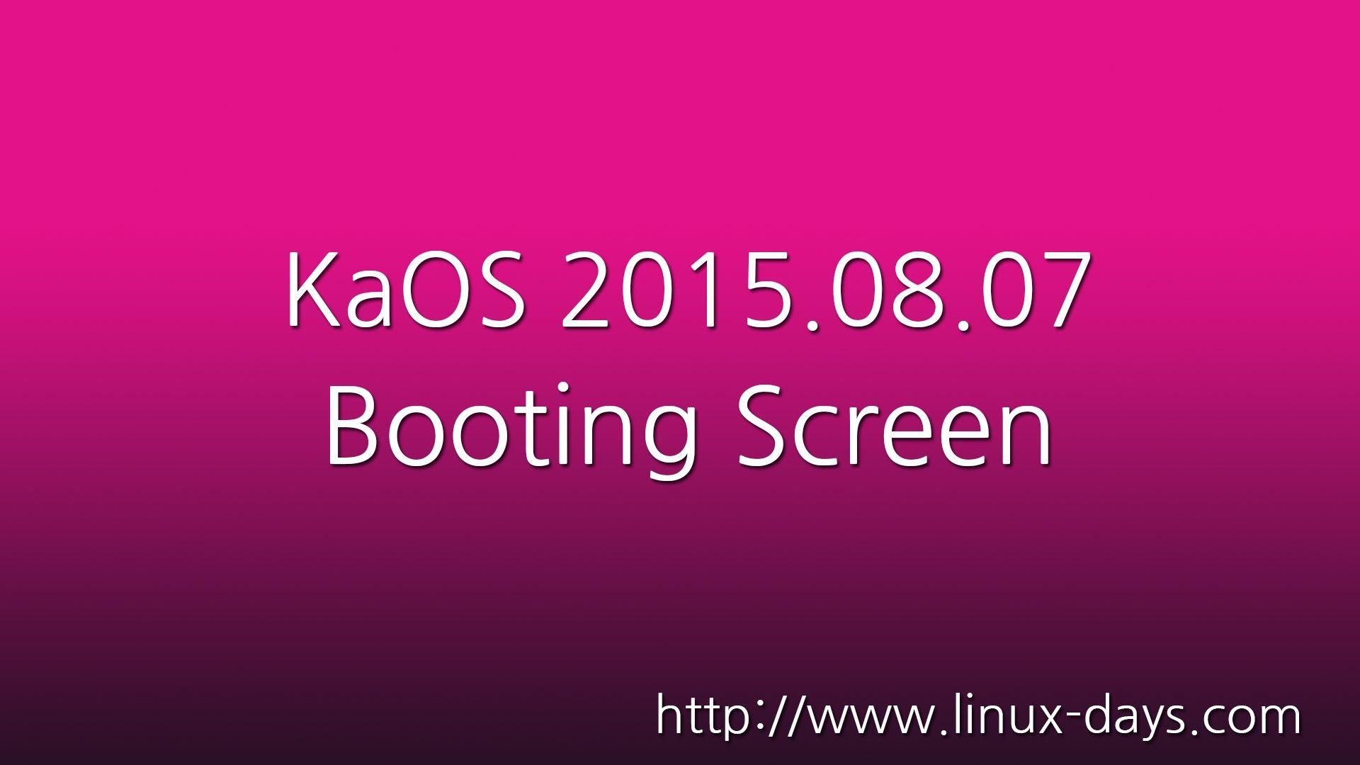 [linux-days.com] KaOS 2015.08.07 Preview (1080p)