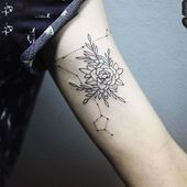 Photo of Fische Geometric Constellation Tattoo – #, #constellation #flowerconstellation …