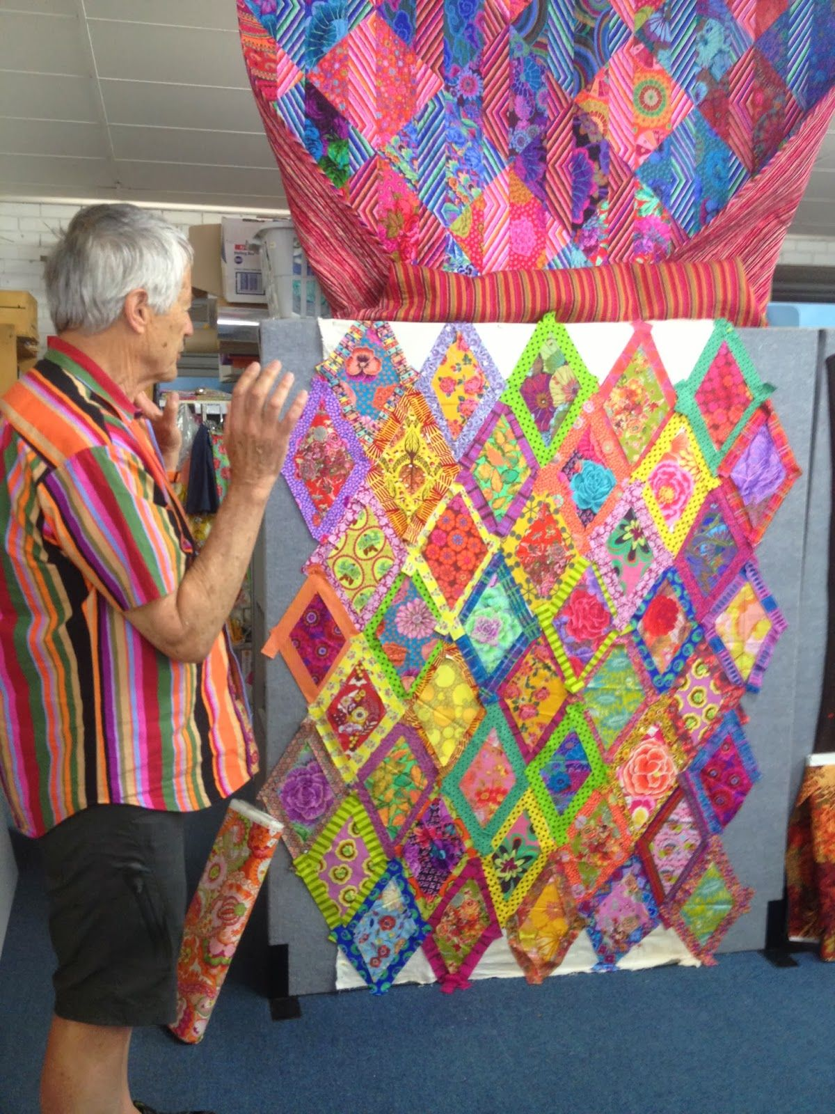 Bordered Diamonds Workshop With Kaffe Fassett Gone Aussie