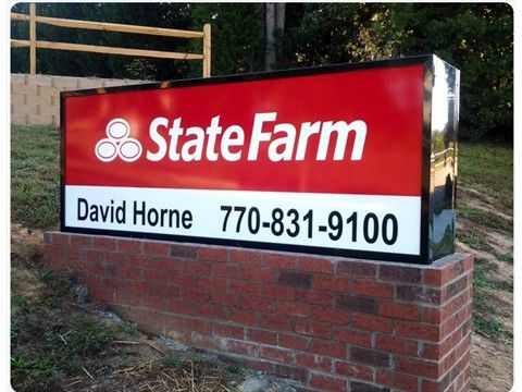 Lighted Signs Window Lighted Signs Outdoor Lighted Signs Outdoor Signs State Farm Signage