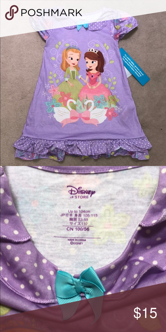 """bf208a2ac9 NWT Disney Store Sofia First nightgown NWT Disney Store """" Sofia the First """"  nightshirt   nightgown for your princess Disney Pajamas Nightgowns"""