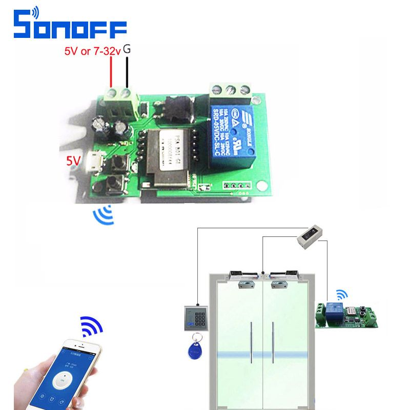 sonoff wifi switch wireless Relay module Smart home Automation for
