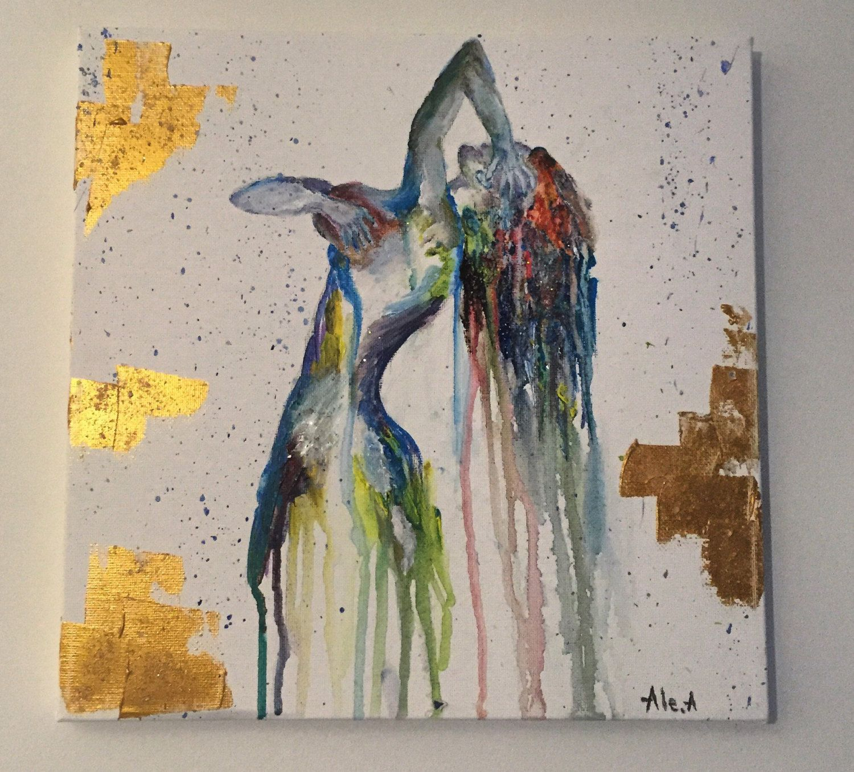 Nude Woman Paintingart Nakedabstract Naked Girl Colorful -7664