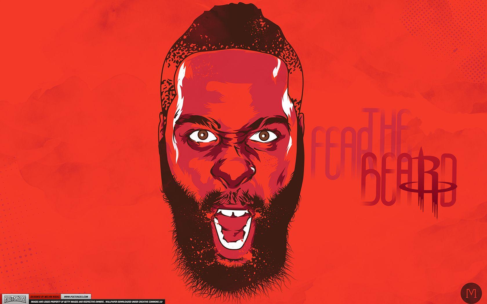 James Fear The Beard Harden Houston Rockets Nba Wallpapers