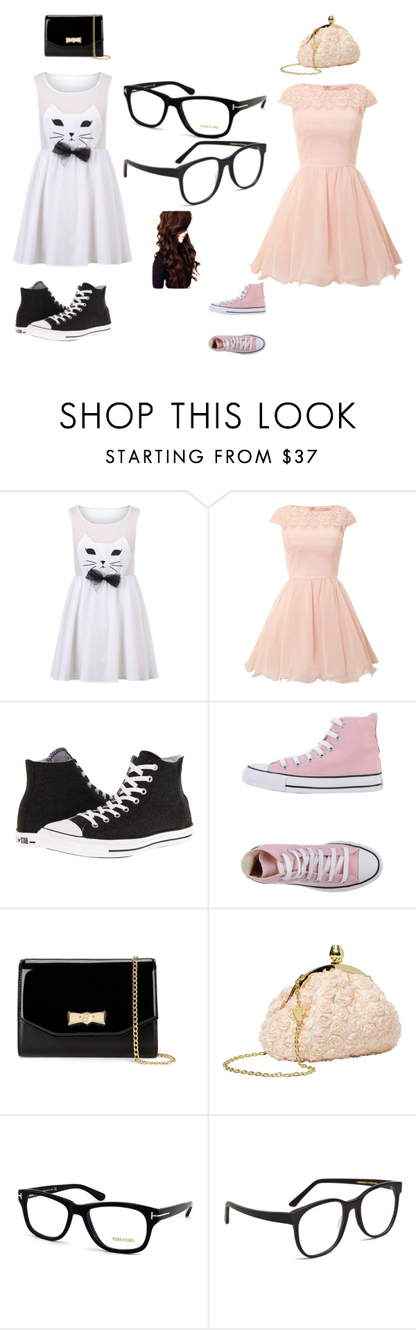 """""""NERD jk i love nerds"""" by fashion41323 ❤ liked on Polyvore featuring Chi Chi, Converse, Ted Baker, Betsey Johnson, Tom Ford and Larke"""
