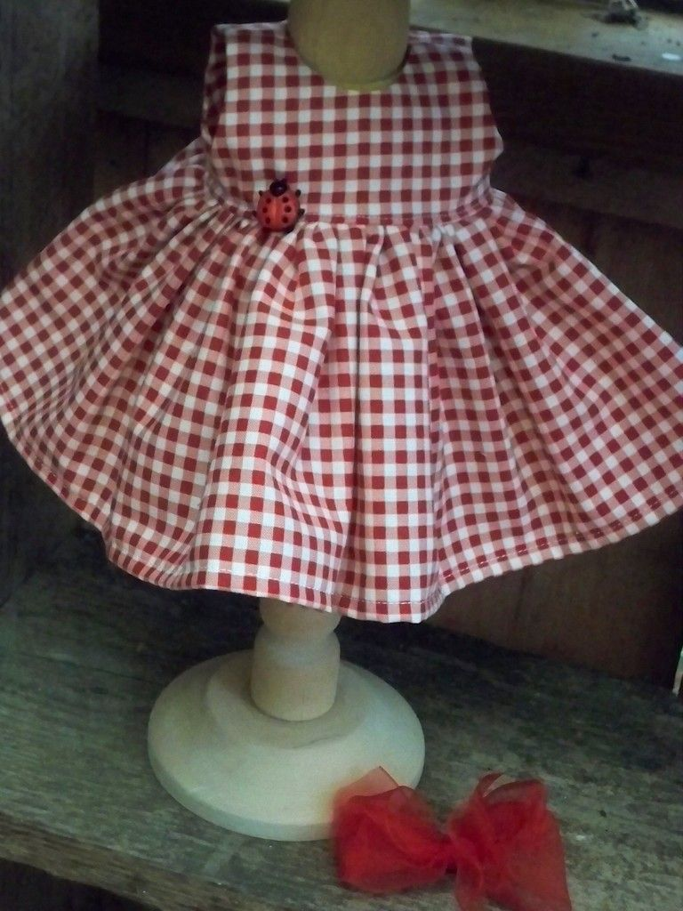"""Waldorf doll   14"""" Ladybug Girl"""