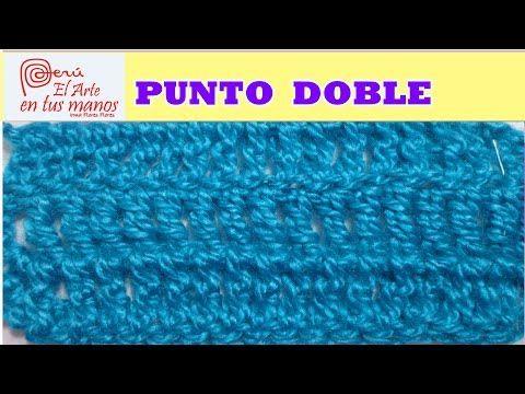 PUNTO DOBLE A CROCHET PARA PRINCIPIANTES - YouTube
