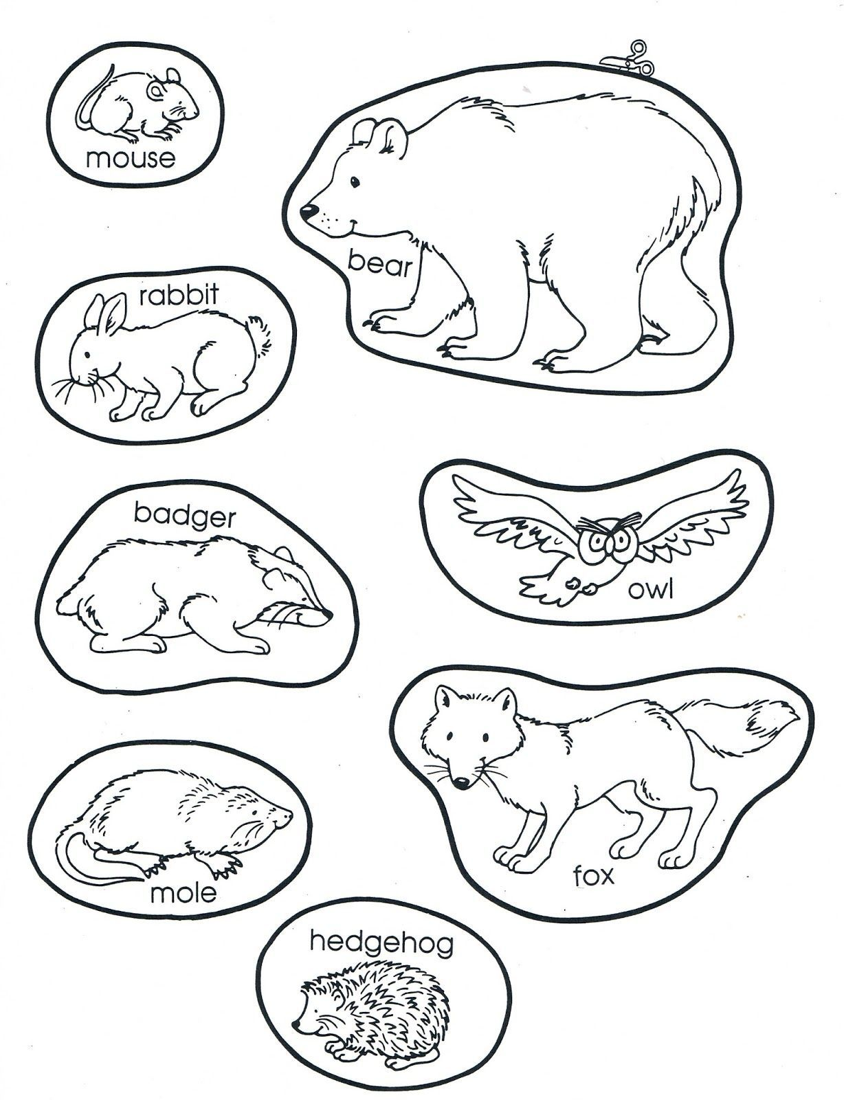 The Mitten Coloring Pages Collection