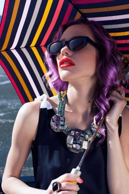 Purple pastel hair