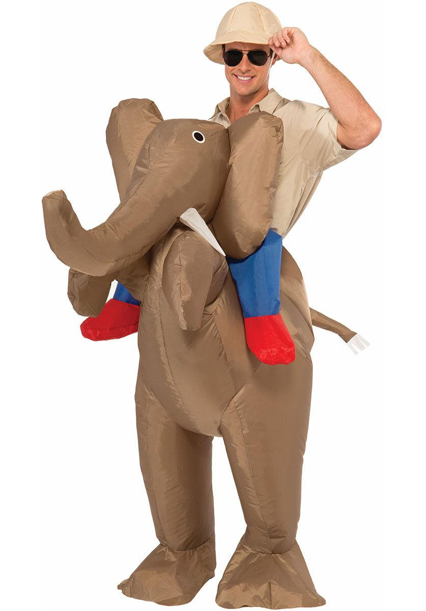 Funny Adult Novelty Fancy Dress Inflatable Elephant Costume - Funny at  Escapade™ UK