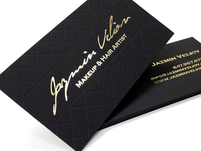 Black Business Cards 700gsm Foil On Double Sided With Etsy Black Business Card Foil Stamped Business Cards Printing Business Cards
