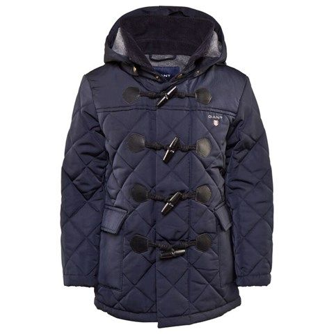 Gant Navy Quilted Duffle Coat | My Baby Boy's Fashion | Pinterest ...