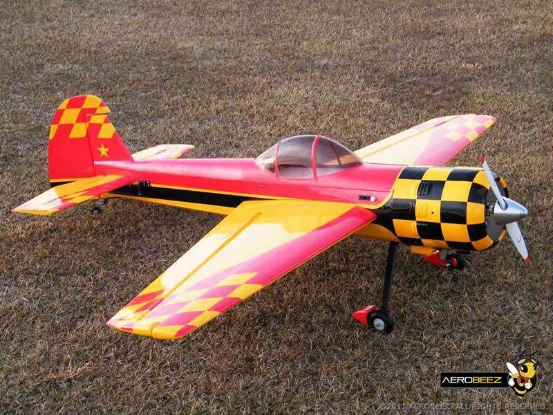 "75"" 26 Scale Yak55M 30cc Gas 3D Aerobatic ARF Red/Gold"