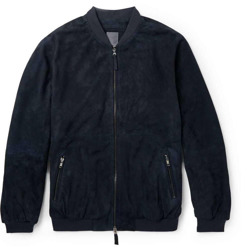 fca9fc9de Lot78 - Suede Bomber Jacket | MR PORTER | Leather jackets | Jackets ...