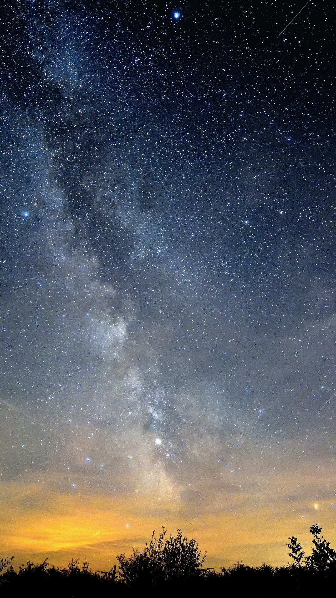 Stars Sky Milky Way Night Out Nature 1080x1920