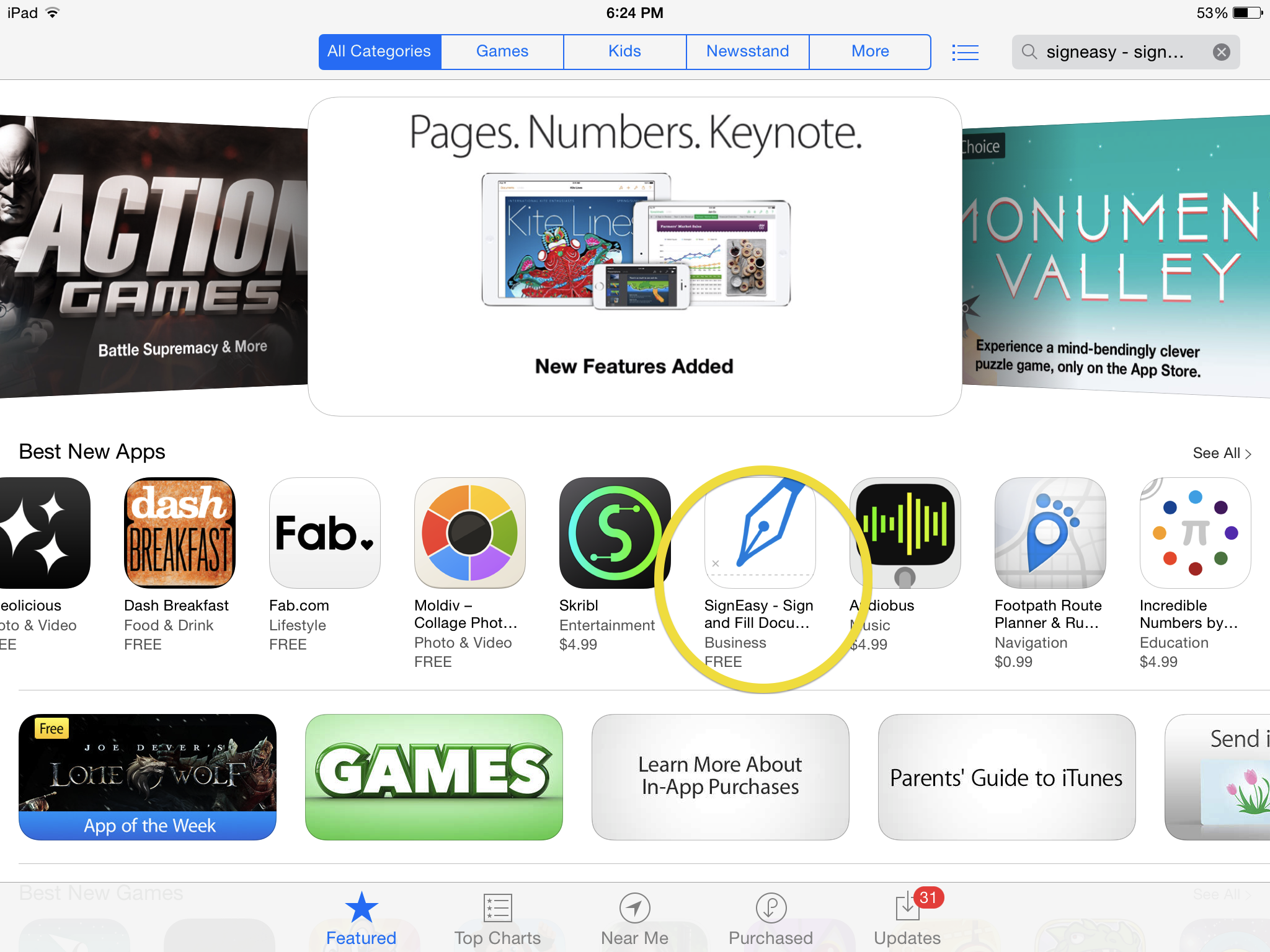 SignEasy is listed among the Best New Apps in the Apple App Store! 04.04.2014