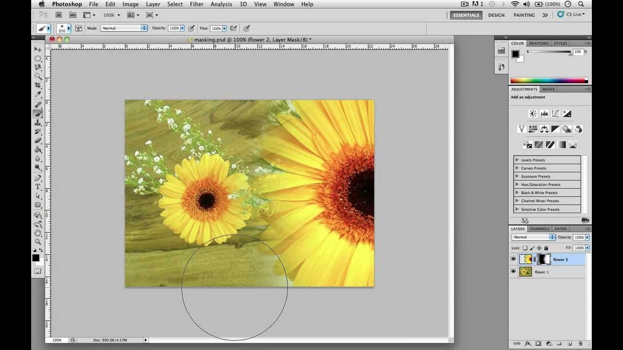 How to Create a Layer Mask CS5 video tutorial