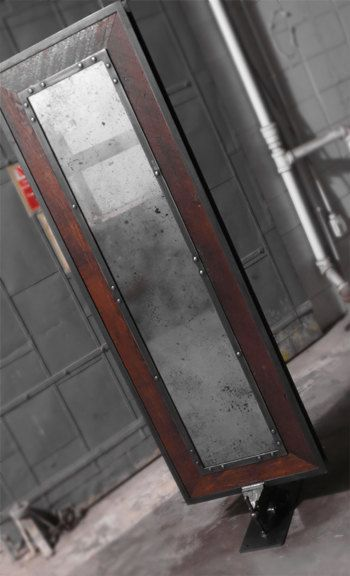 Antique Mirror Industrial Reclaimed Wood Frame By Adapt2design