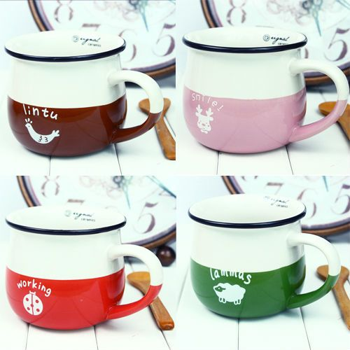Aliexpress.com : Buy Ceramic milk cup coffee mug lintu working lammas snilel animal cup 4 colors optional free shipping from Reliable cup pad suppliers on Emily's delicate life
