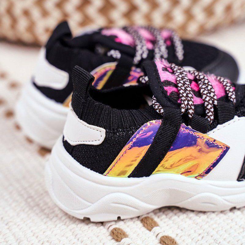 Frrock Dzieciece Sportowe Buty Czarne Velma Sneakers Nike Nike Huarache Shoes