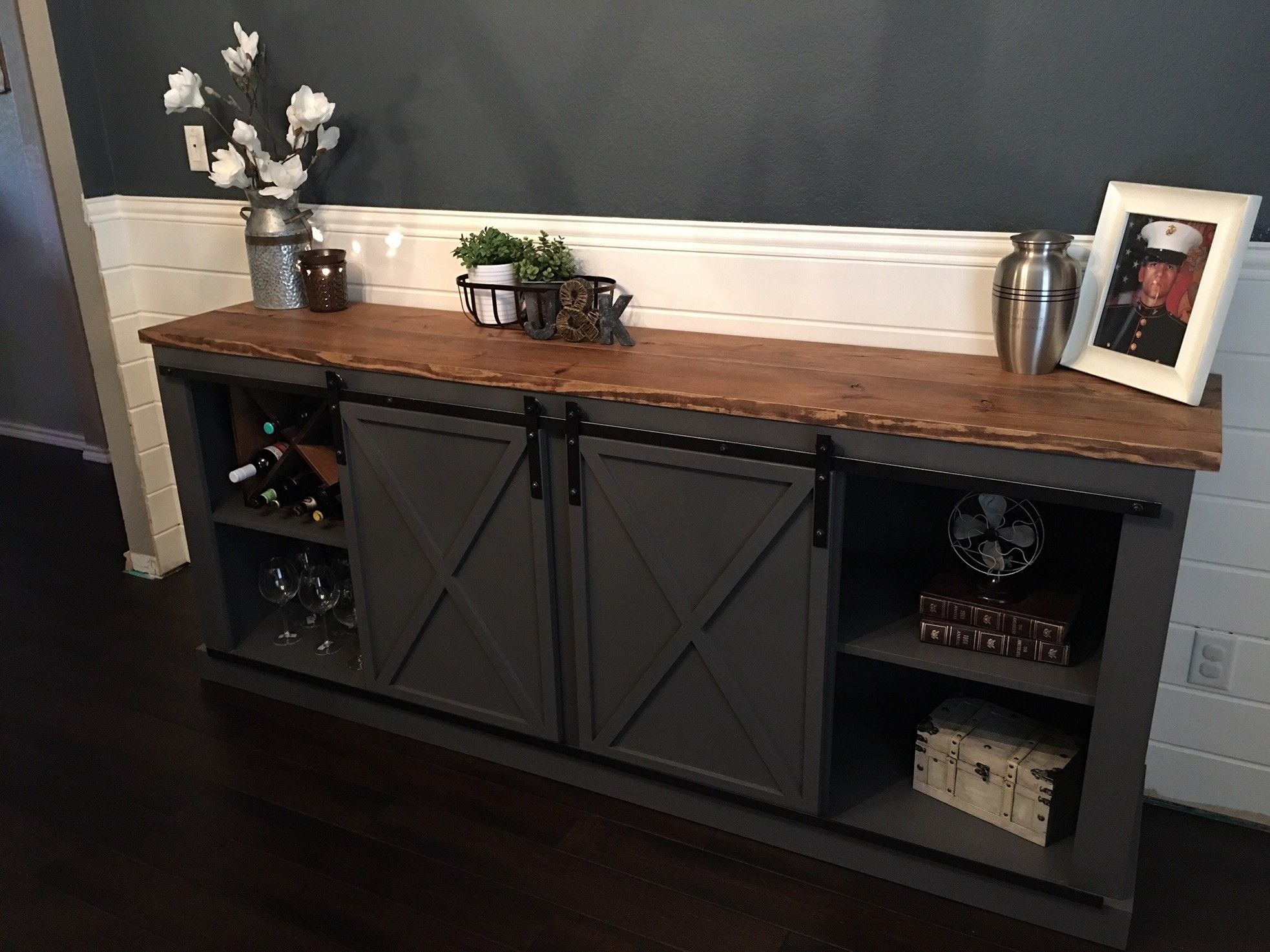 Diy Entertainment Center Ideas Plans Built In Refurbish Cheap Dresser Pallets Tv Stands Shelves Wall Cor Barn Door Console Barn Door Cabinet Diy Door