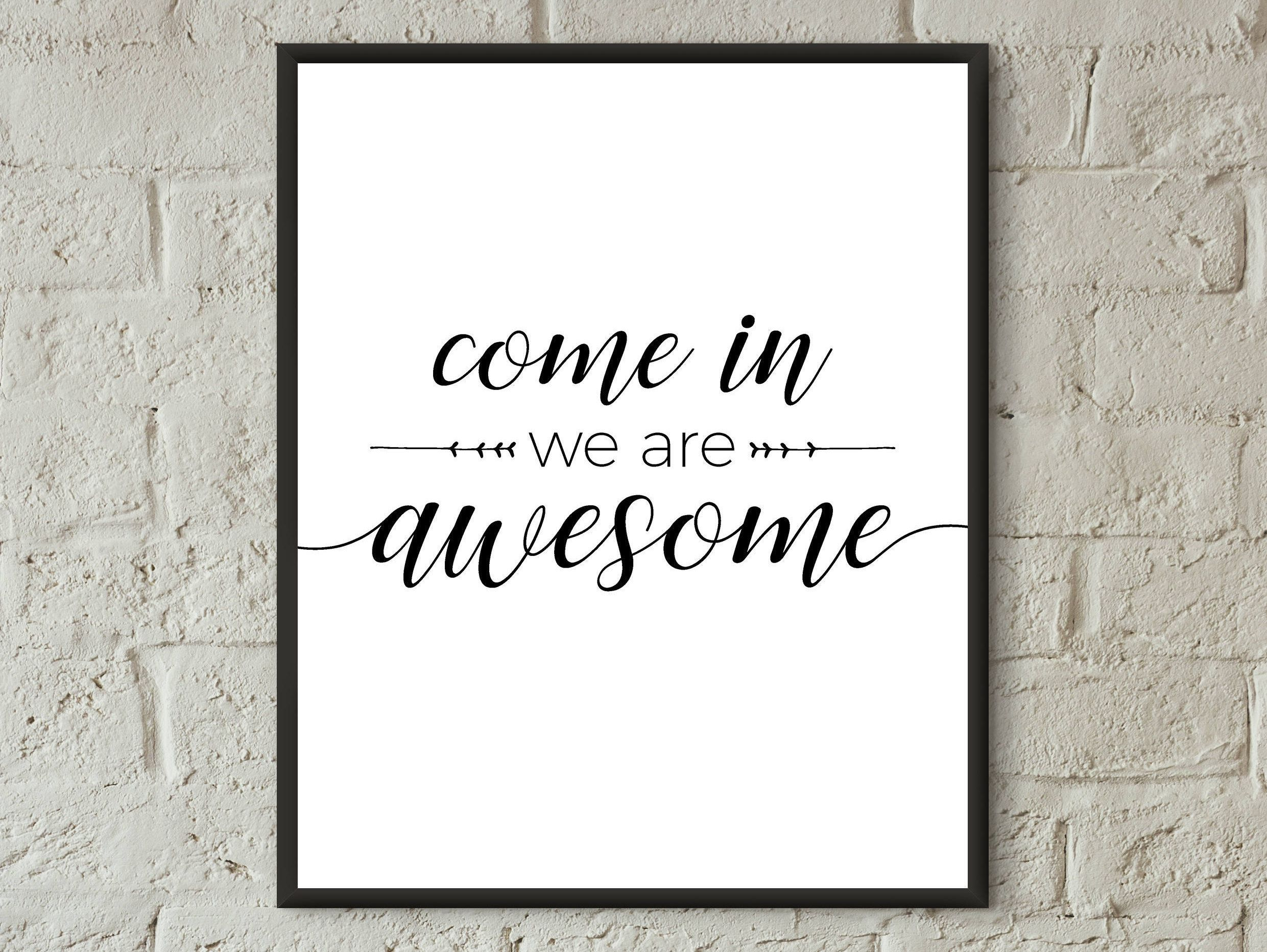 awesome sign decor home decor wall art home print quote prints download welcome home  decor wall art home print quote prints
