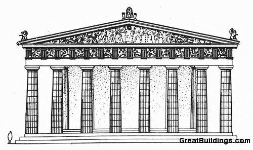 Great Buildings Drawing - The Parthenon | T-man ...