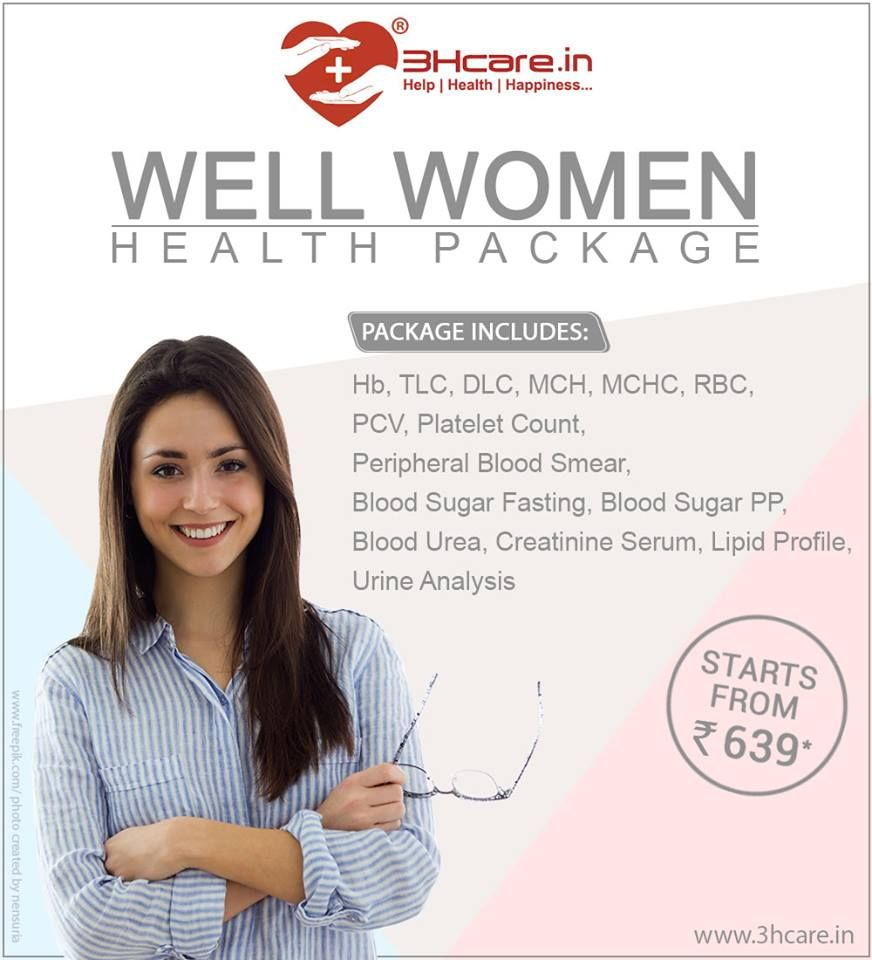Well Women Health Package. Book your package at https