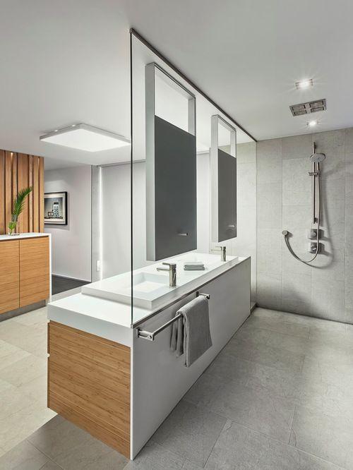 Modernes Bad Mit Dusche - Badezimmermöbel Modernes Badezimmer Mit - moderne badezimmermbel